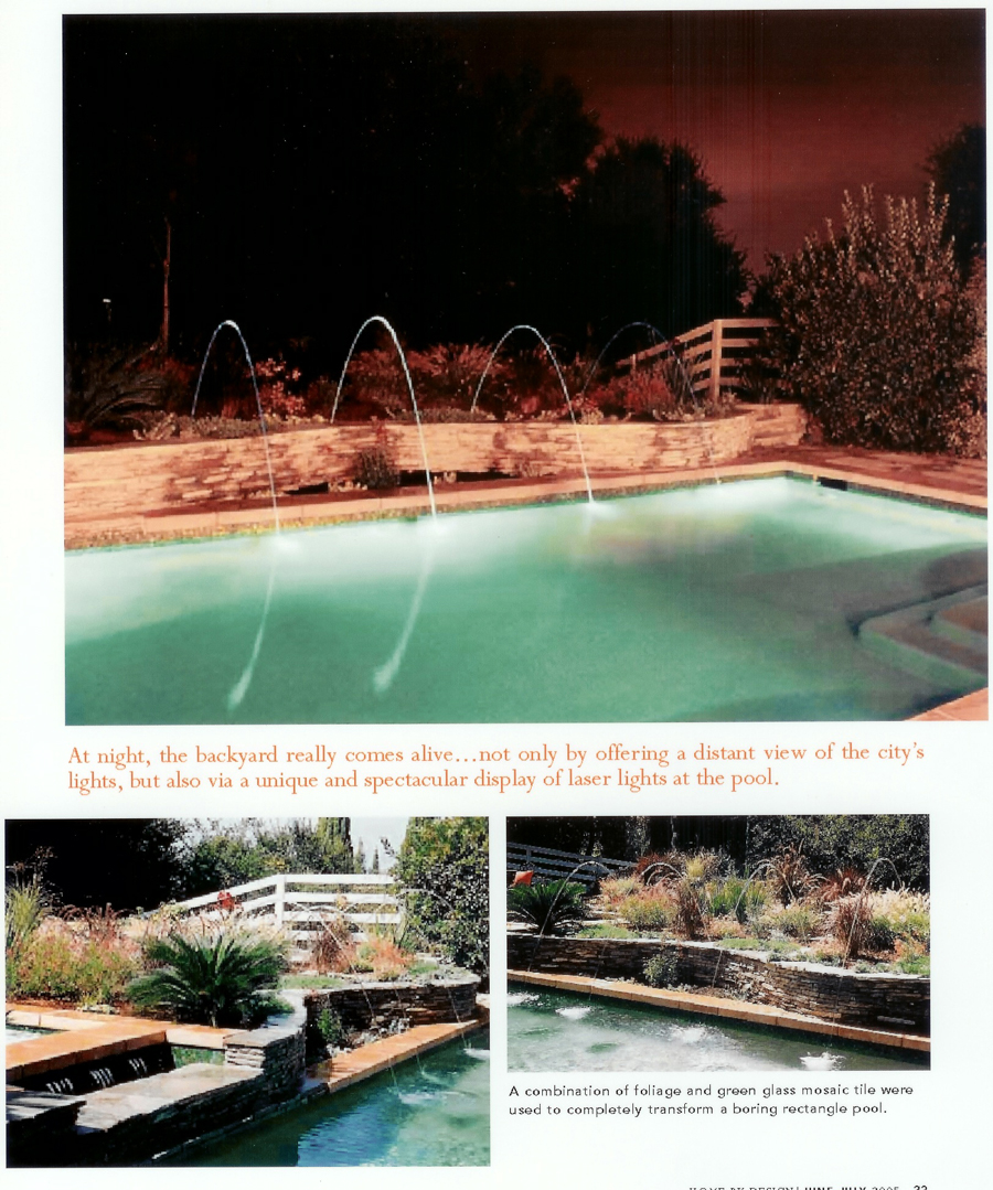 Portfolio of Aquatic Technololgies Luxury Swimming Pools & Waterfall Fountains Work