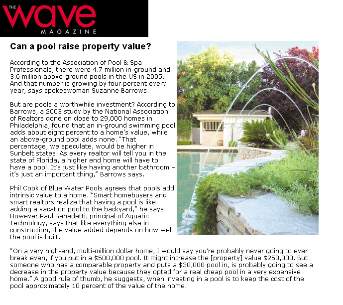 The Wave Magazine - Can a Pool Raise Property Value